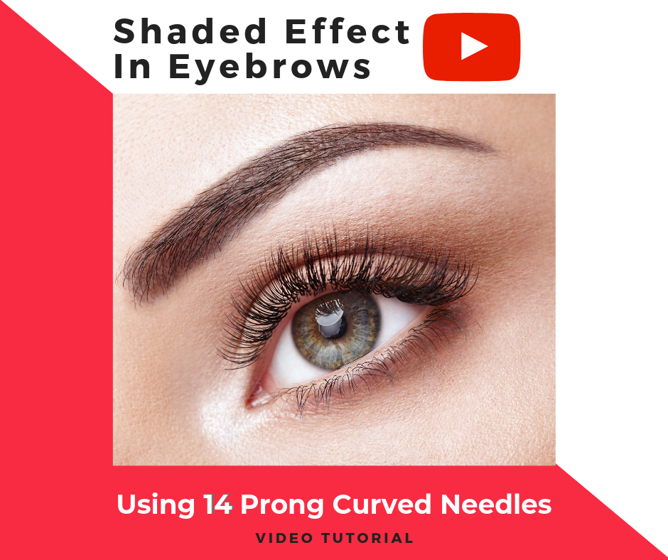 Doing A Shaded Effect In Eyebrows With 14 Prong Curved Needles
