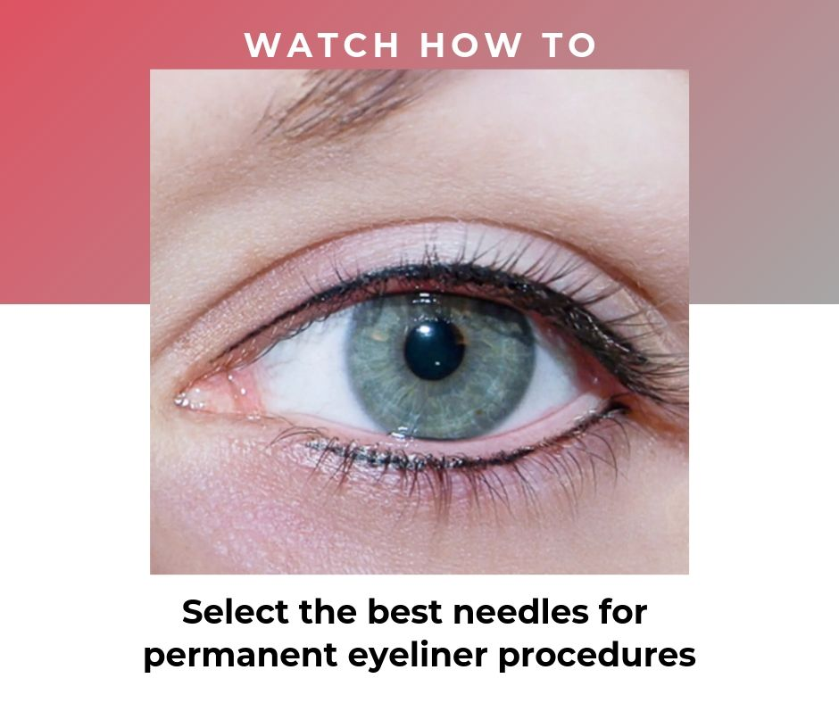 Watch this video to learn how to select the best needles for eyeliners