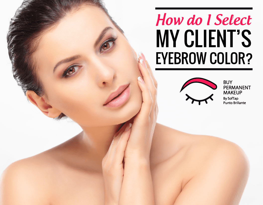 How do I Select My Client's Eyebrow Color