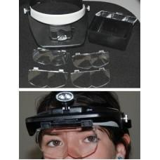 Head Magnifier w/Center LED Lights