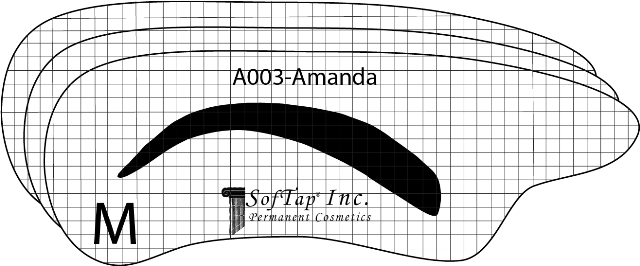 Stencil for Eyebrows A003 - Amanda