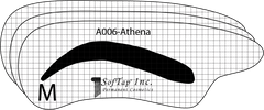 Stencil for Eyebrows A006 - Athena