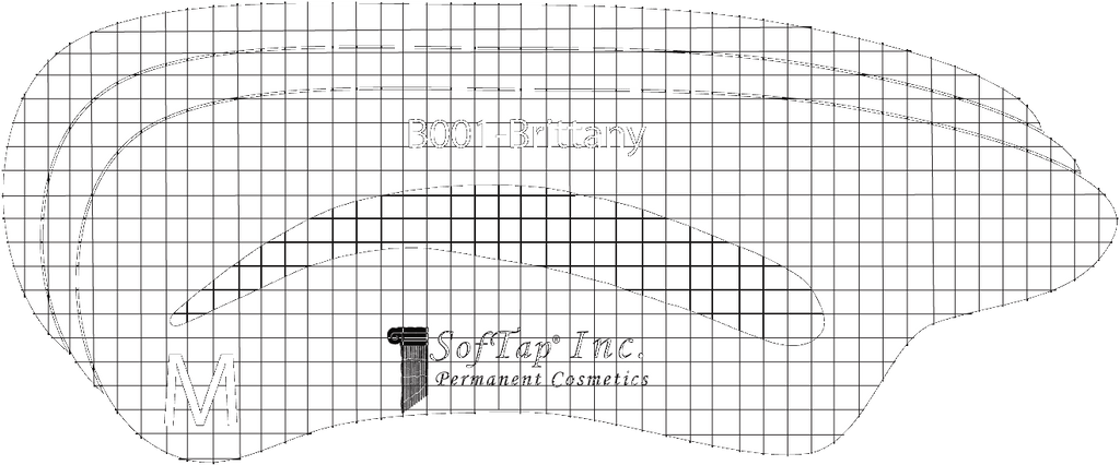 Stencil for Eyebrows B001 - Brittany