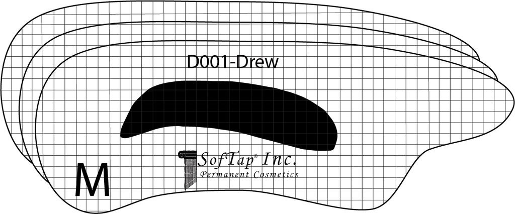 Stencil for Eyebrows D001 - Drew