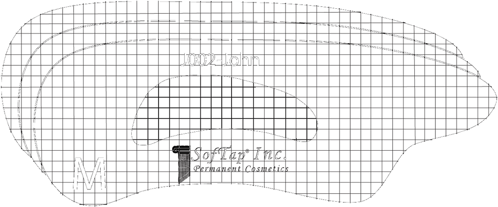 Stencil for Eyebrows J002 - John