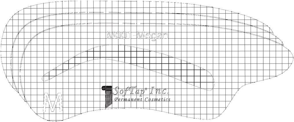 Stencil for Eyebrows M001 - Megan