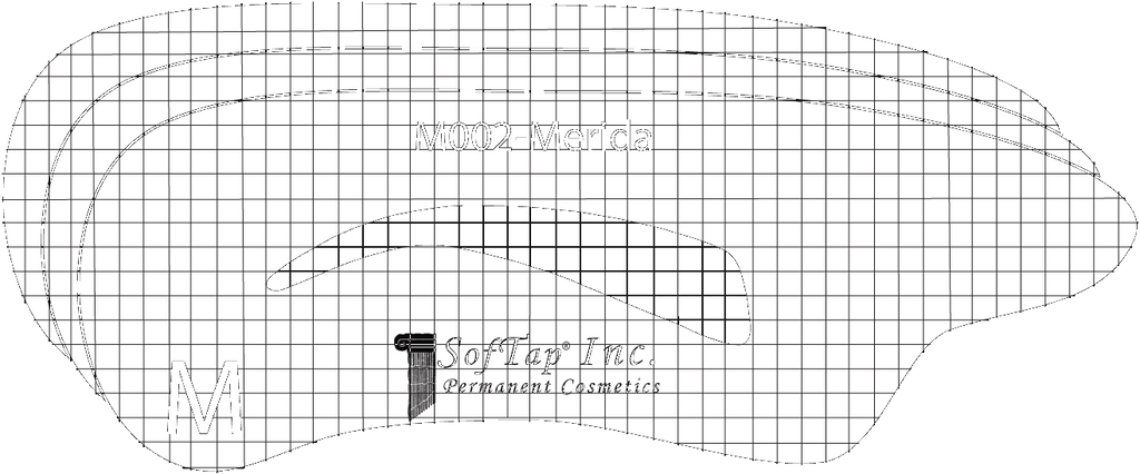 Stencil for Eyebrows M002 - Merida