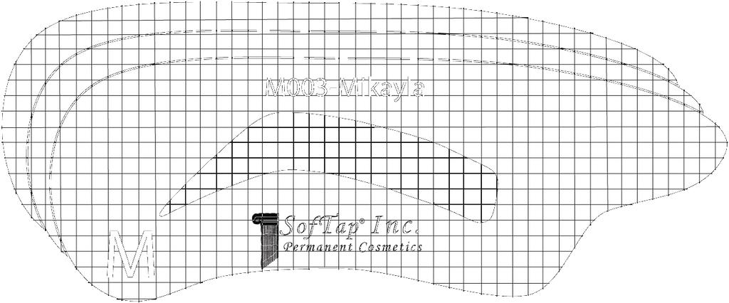 Stencil for Eyebrows M003 - Mikayla