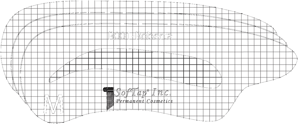 Stencil for Eyebrows R001 - Roberta