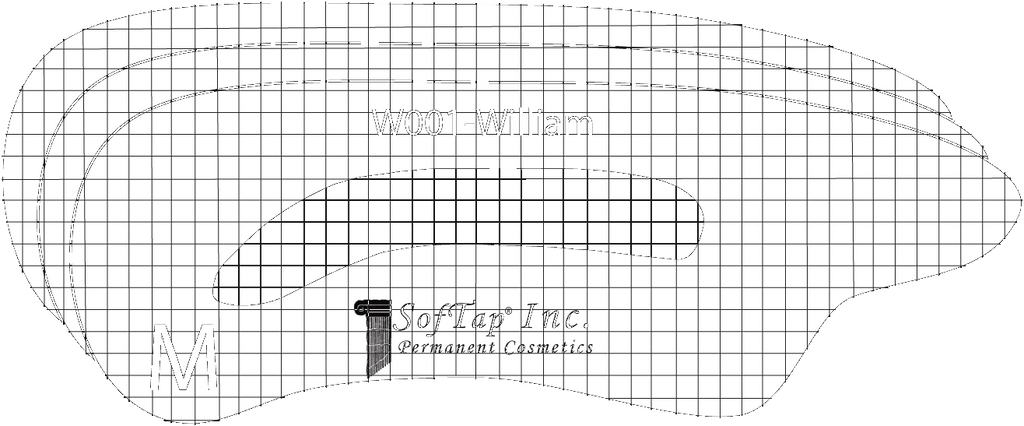 Stencil for Eyebrows W001 - William