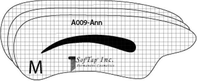 Stencil for eyebrow A009 - Ann