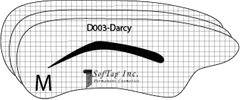 Stencil for eyebrows D003 - Darcy