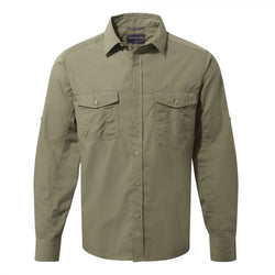 Tilley Craghoppers Kiwi Long-Sleeved Shirt CMS338 Pebble