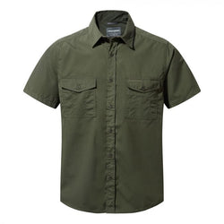 Tilley Craghoppers Kiwi Short-Sleeved Shirt CMS339 Cedar