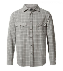 Tilley Craghoppers Kiwi Long-Sleeved Shirt CMS595 Cement