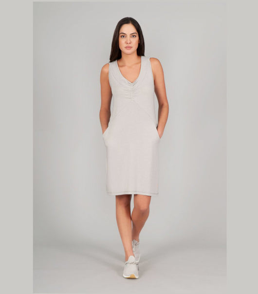 Indygena Rilascio Jersey Knit Dress W911D13 Grey Heather