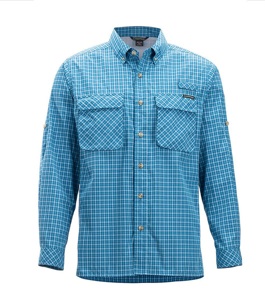 Tilley Exofficio Air Strip Check Plaid 1001-3159 Aegean