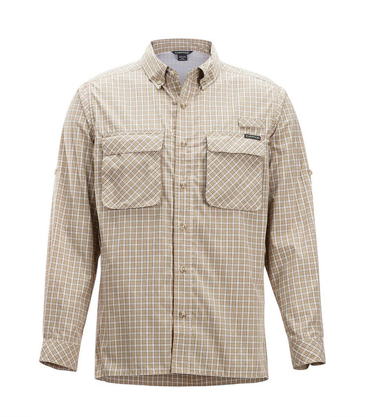 Tilley Exofficio Air Strip Check Plaid 1001-3159 Khaki