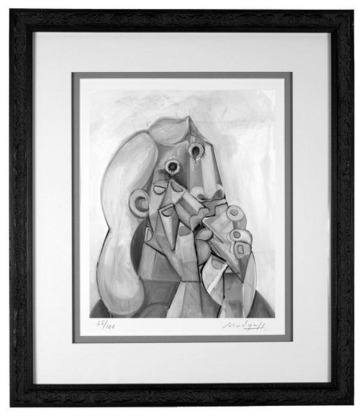 Emotional Woman Limited Edition in custom tradition style wood frame