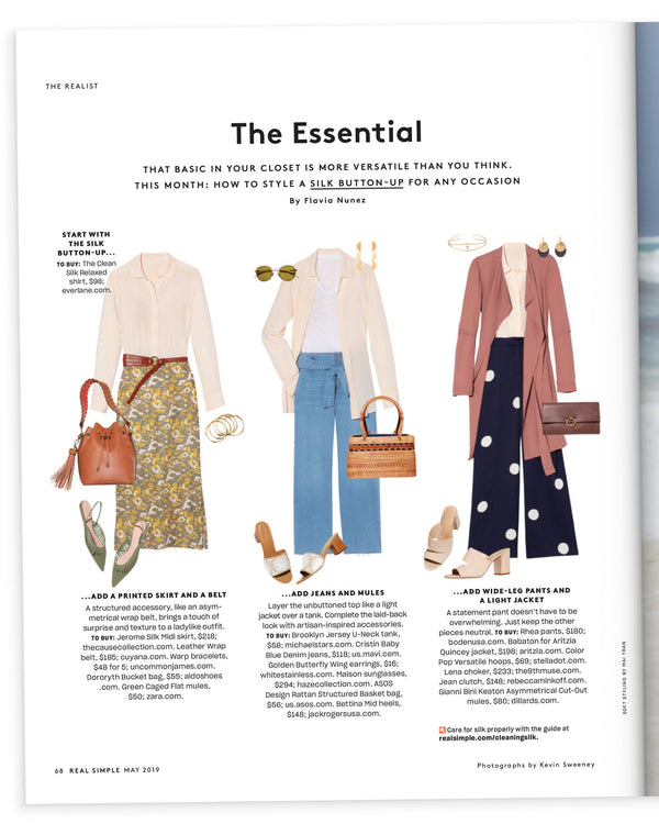 The Jerome Silk Midi Skirt Featured In Real Simple Magazine