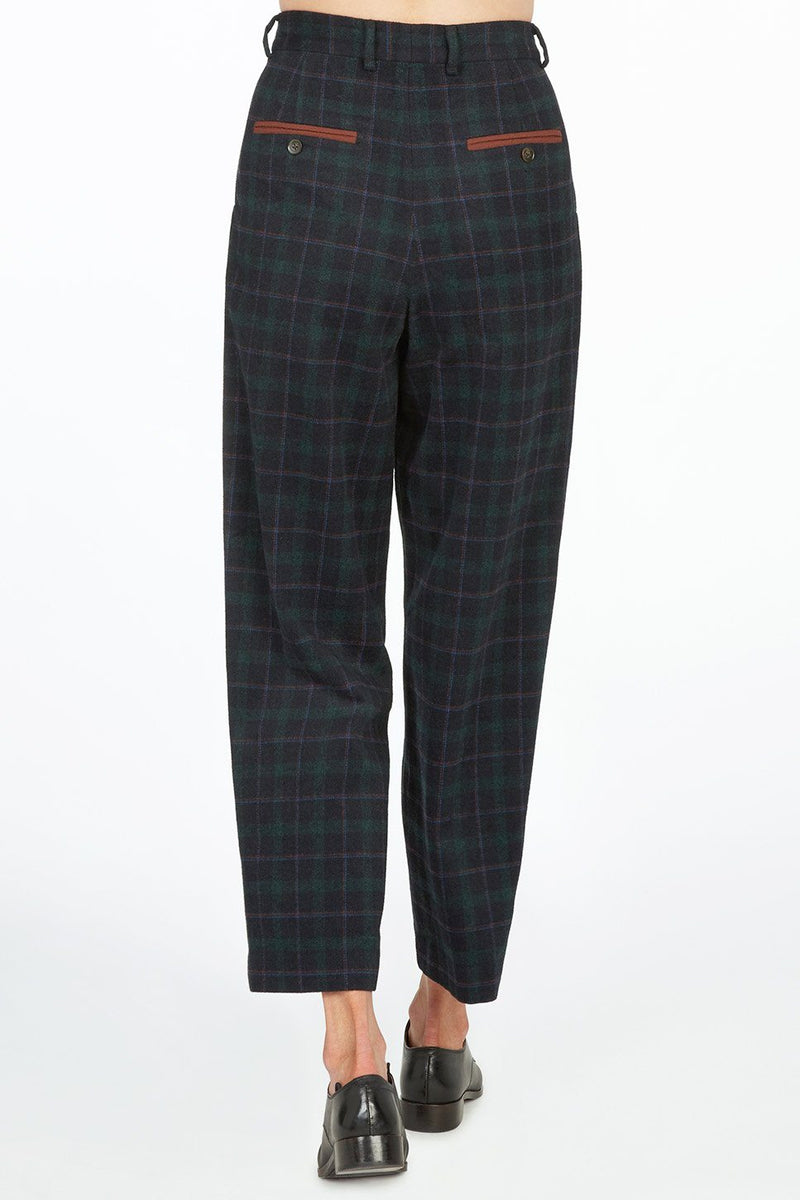 Ashby High-Waisted Pant with Pleats