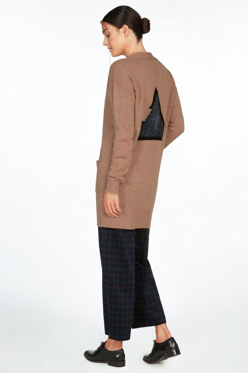 """Open To Change"" Wool & Cashmere Blend Cardigan Sweater"