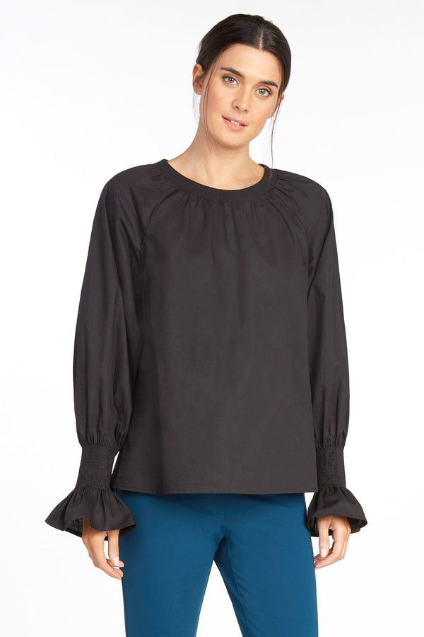 Barranca Puff Sleeve Cotton Top