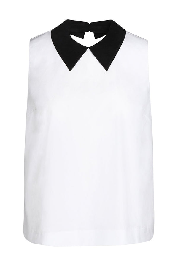 Barrow Sleeveless Collared Blouse