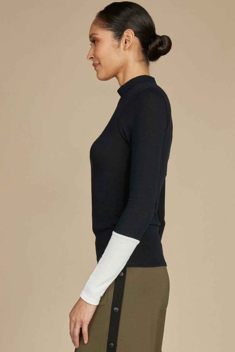 Chase Essential Mock Neck Knit Top