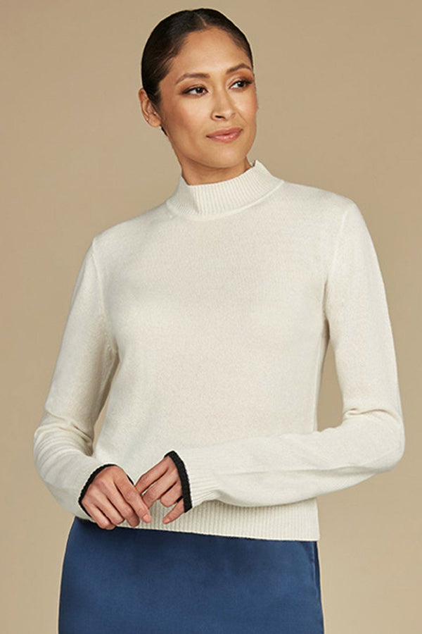 Hansen Cashmere Mock Neck Sweater