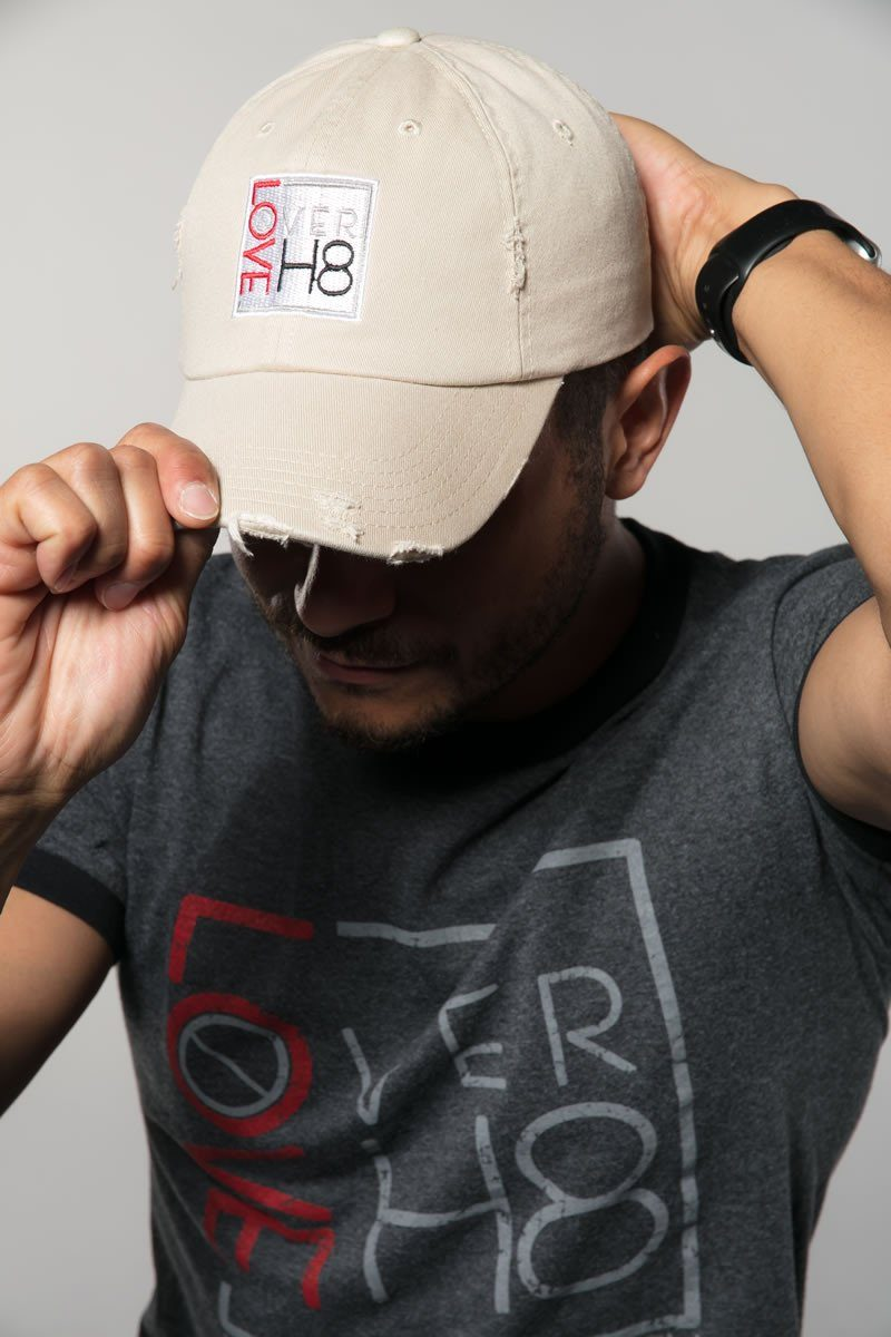 Love Over H8 Embroidered Ball Cap created by Cheryl Najafi