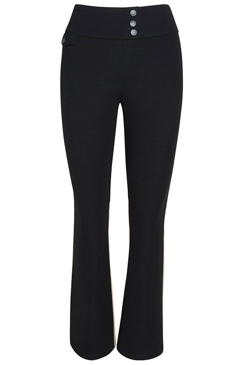 Paseo Ponte Bootcut Pant in Black and Tan by The Cause Collection.