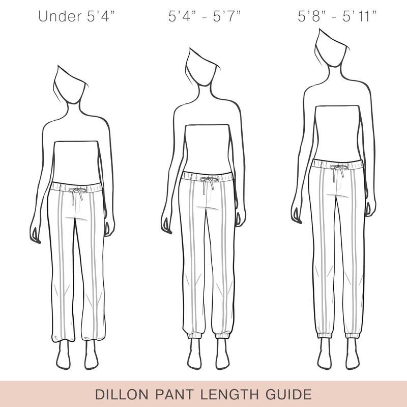 Dillon Dressy Track Pant (In Charcoal) Length Guide.