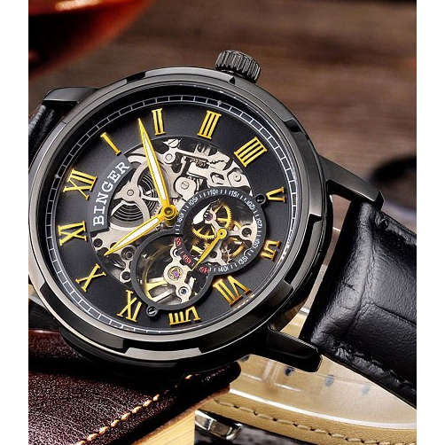 Binger Swiss Skeleton Watch