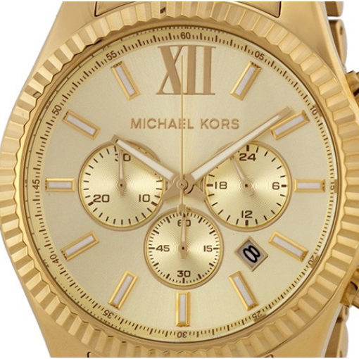 Michael Kors Lexington Chronograph Champagne Dial