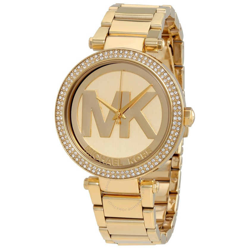 Michael Kors Parker Champagne Dial Gold-tone Watch