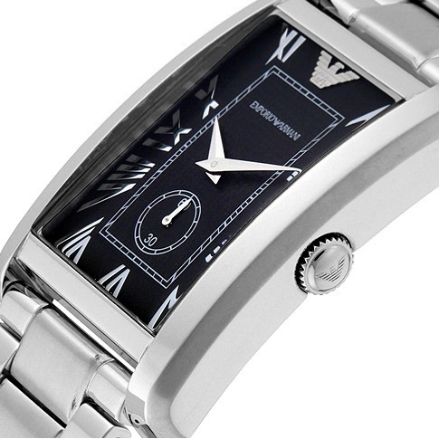 Emporio Armani Classic Black Dial Stainless Steel Men's Watch