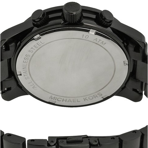 Michael Kors Blacked Out Runway Chronograph Men's Watch