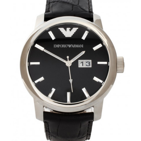 Emporio Armani Ceramic Chronograph Black Dial Men's Watch