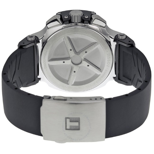 T-Race Black Dial Men's Watch