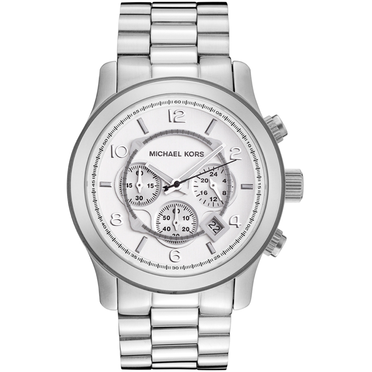 0de79b083167 Michael Kors Silver Oversized Runway Watch MK8086 – Wrist Taker Watches