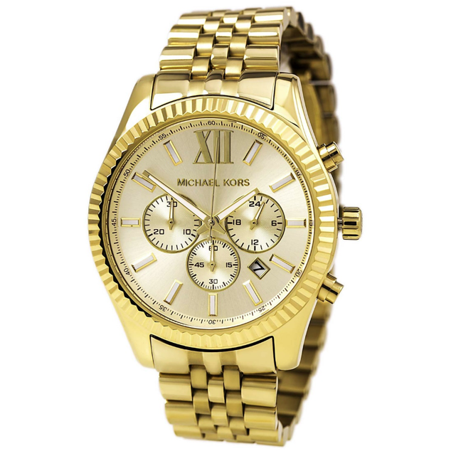 06cc8d566791 Michael Kors Lexington Gold-Tone Chronograph Men s Watch MK8281 ...
