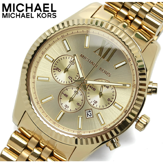 Michael Kors Lexington Gold-Tone Chronograph Men's Watch MK8281