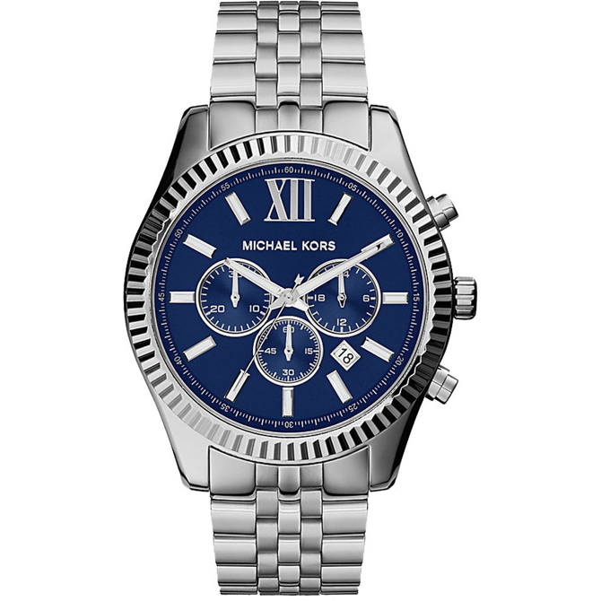 Michael Kors Lexington Chronograph Navy Dial Men's Watch MK8280