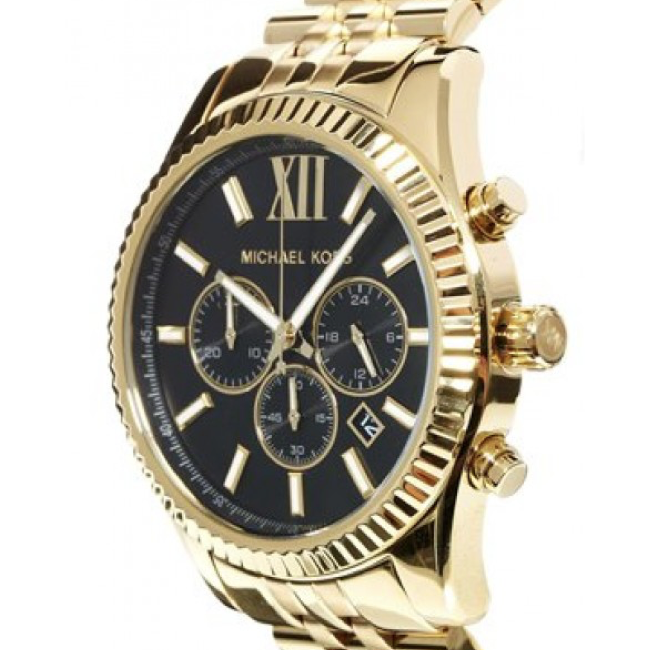 b5a1d195f943 MK8286  Michael Kors Lexington Chronograph Black Dial Gold-tone Men s Watch  Item No.