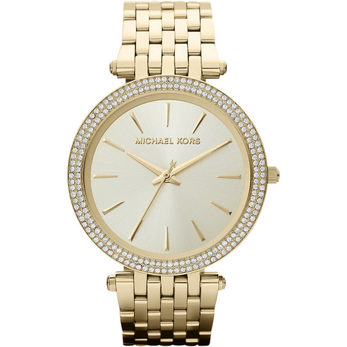 Michael Kors Darci Glitz Gold Dial Pave Bezel Ladies Watch MK3191