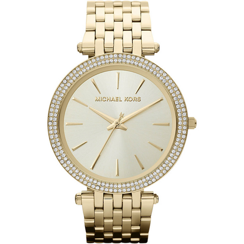 Michael Kors Chronograph White Crystal Ladies Watch MK5165