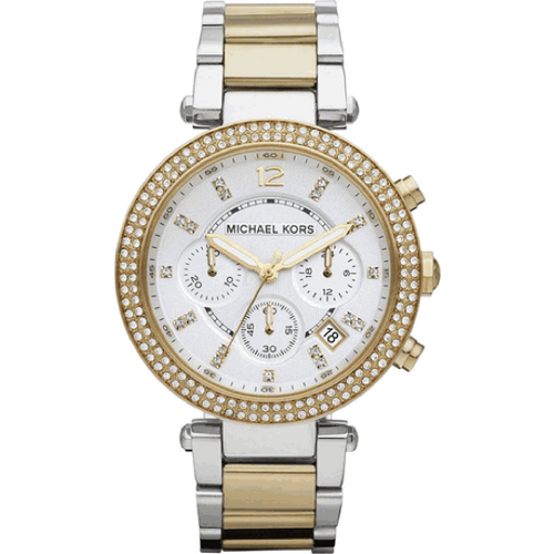 Michael Kors Parker Glitz Silver Dial Two-tone Ladies Watch MK5626