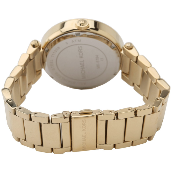 Michael Kors Parker Champagne Dial Gold-tone Watch MK5784