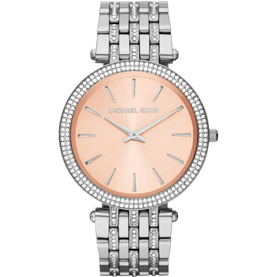 Michael Kors Darci Rose-Gold-Tone Dial Steel Crystal Ladies Watch MK3218